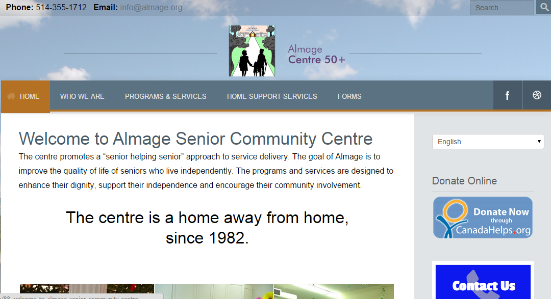Senior Centre Web Site