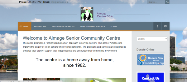 Senior Centre Web Site